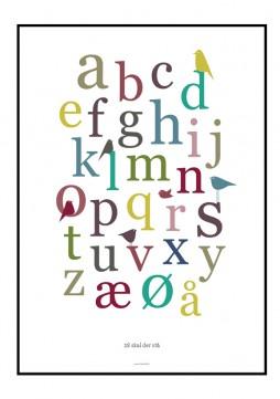 Alfabet plakat fra Designerblog i skønne farver