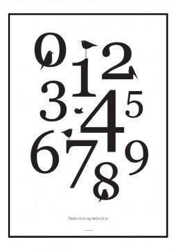 Plakat med grafisk opsatte tal og fulge