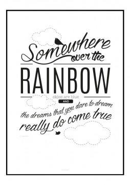 "Plakat ""Somewhere over the Rainbow"""