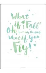 Plakat med motiverende ord