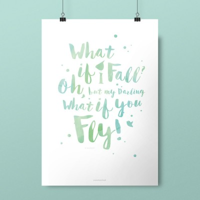 Plakat, What if I Fall