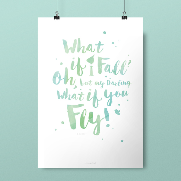 Plakat, What if I Fall