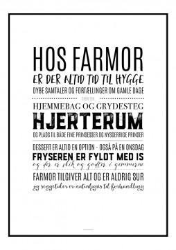 Plakat med farmors husregler
