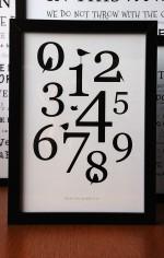 Grafisk plakat med tal fra 0-9