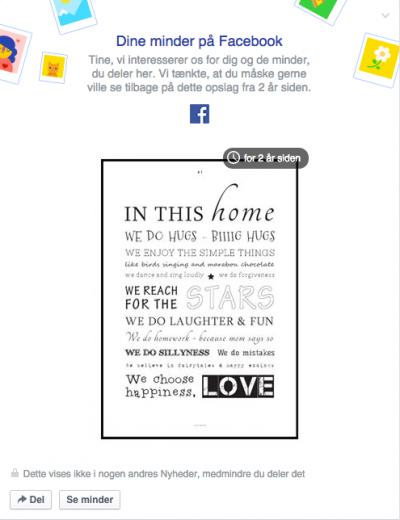 Minder fra Facebook - Designerblog